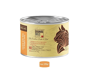Brunos Wild Essentials Grain Free Wet Cat Food Sardine with Tuna In Pumpkin Gravy  - 170 gm ( 12 Cans)