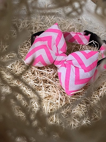Mutt of Course Chevron Pink Dog Bow Tie- Small