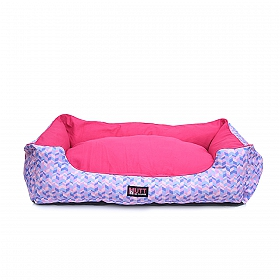 Mutt Of Course Geometrical Light Lounger Bed - Small