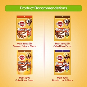 Pedigree Meat Jerky Stix Bacon Flavor - 60 gm (Pack of 12)