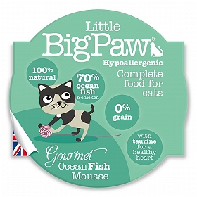 Little Big Paw Gourmet Seafood Mousse Selection Cat Food- 85 gm (Pack of 6)