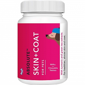 Drools Absolute Skin+Coat Supplement - 50 Tablets