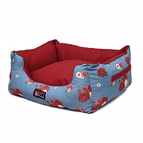 Mutt Of Course Lounger Bed For Dogs - Pawsome Blossom - Small