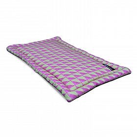 Mutt Of Course Water Color Pink & Green Mat - Large