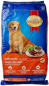 Smart Heart Dry Dog Food Smoked Liver Adult - 20 kg