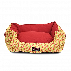 Mutt Of Course Lounger Bed For Dogs - Coral Reef - Small