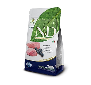 Farmina N&D Dry Cat Food Grain Free Lamb & Blueberry Adult Cat - 300 gm
