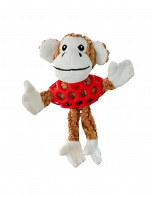 Smarty Pet Rubber N Plush Monkey Toy - Small