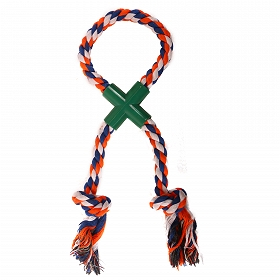 DogSpot Rope Cross Tug Rope Toy