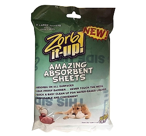 Zorb-It-Up Super Absorbent Sheets (LxB - 30cm x 45cm)- 2 Sheets