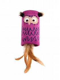 GiGwi Melody Tube Melody Chaser Owl with Sound Chip Cat Toy
