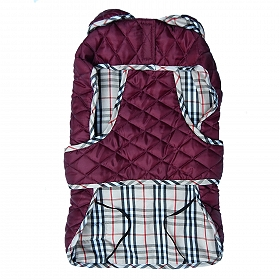 Mutt Of Course Pupberry Jacket Burgundy - 3XLarge