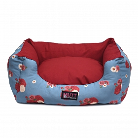 Mutt Of Course Lounger Bed For Dogs - Pawsome Blossom - Large