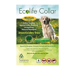 Ecolife Dog Tick & flea collar - Medium