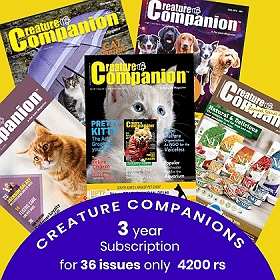 Creature Companion Magazine Three Year Subscription