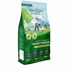 Wag & Love Grain Free Adult Vigor Large & Giant Breed Chicken, Carrot & Cranberry - 15 Kg