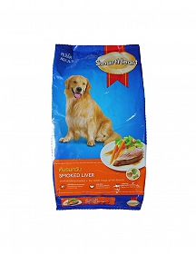 Smart Heart Dry Dog Food Smoked Liver Adult - 3 kg