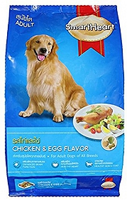 Smart Heart Dry Dog Food Chicken & Egg Adult - 3 kg