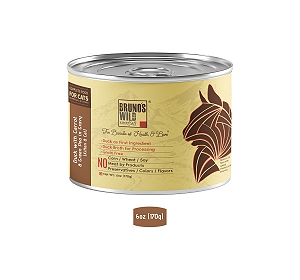 Brunos Wild Essentials Grain Free Wet Cat Food Duck with Carrot & Green Pea In Gravy - 170 gm ( 12 Cans)