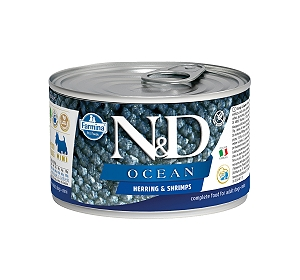 Farmina N&D Wet Dog Food Grain Free Ocean Herring & Shrimp Mini Adult - 140 gm (6 Cans)