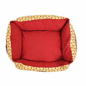 Mutt Of Course Lounger Bed For Dogs - Coral Reef - Xlarge