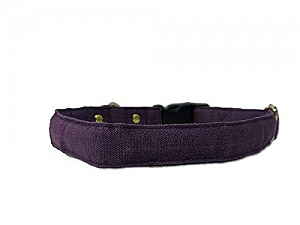 Mutt of Course Wildberry Water- Resistant Collar for Dogs Purple- Medium