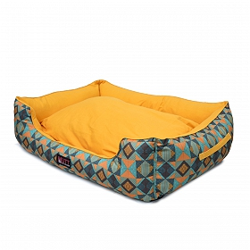 Mutt Of Course Lounger Bed For Dogs - Trickey Turkey - Small