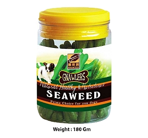 Gnawlers Seaweed Bone Jar Dog Treat - 180 gm