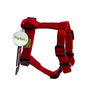 DogSpot Premium Harness Red - Medium With Wag Tag