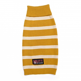 Mutt of Course Dog Sweater Mustard - Medium