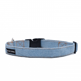 Mutt Of Course Stud Muffin Light Denim Collar - Small