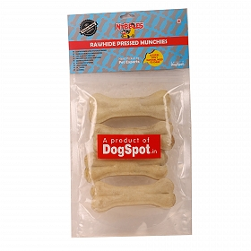 DogSpot Rawhide Bones 4 Inches - 4 pieces