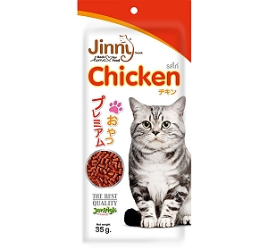Jerhigh Jinny Chicken Cat Treat - 40 gm (Pack oF 5)
