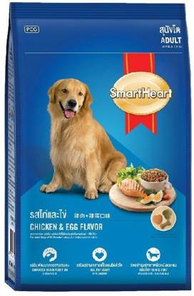 Smart Heart Dry Dog Food Chicken & Egg Adult - 1.5 kg
