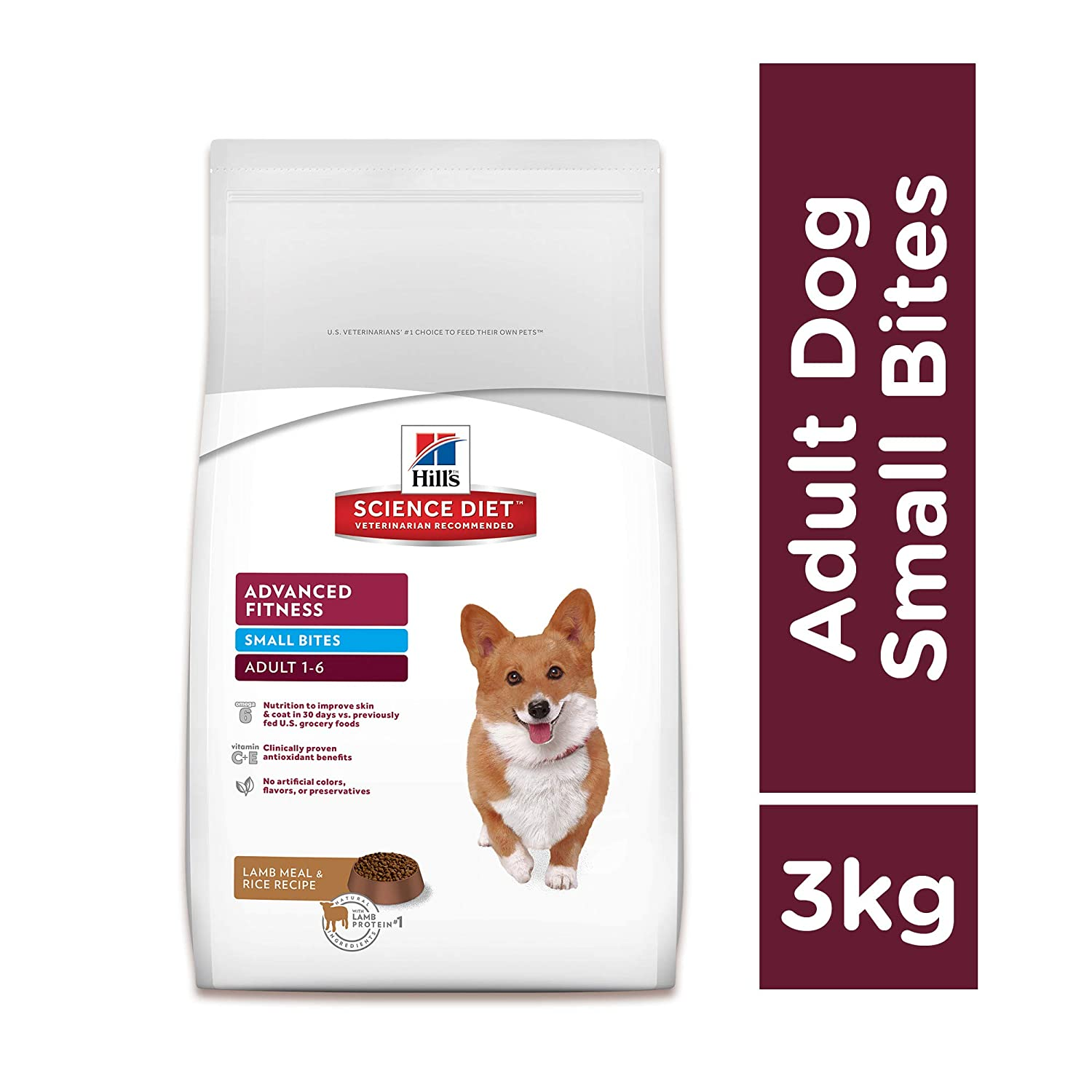 Hill's Science Diet Adult Small Bites Lamb & Rice Dry Dog Food - 3 Kg