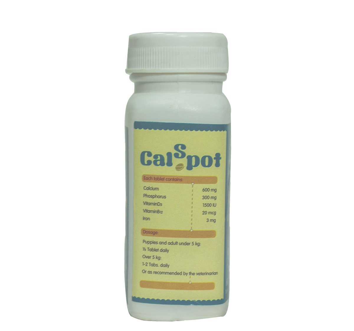 CalSpot Calcium Supplement For Dog - 60 Tablets (Pack of 3)