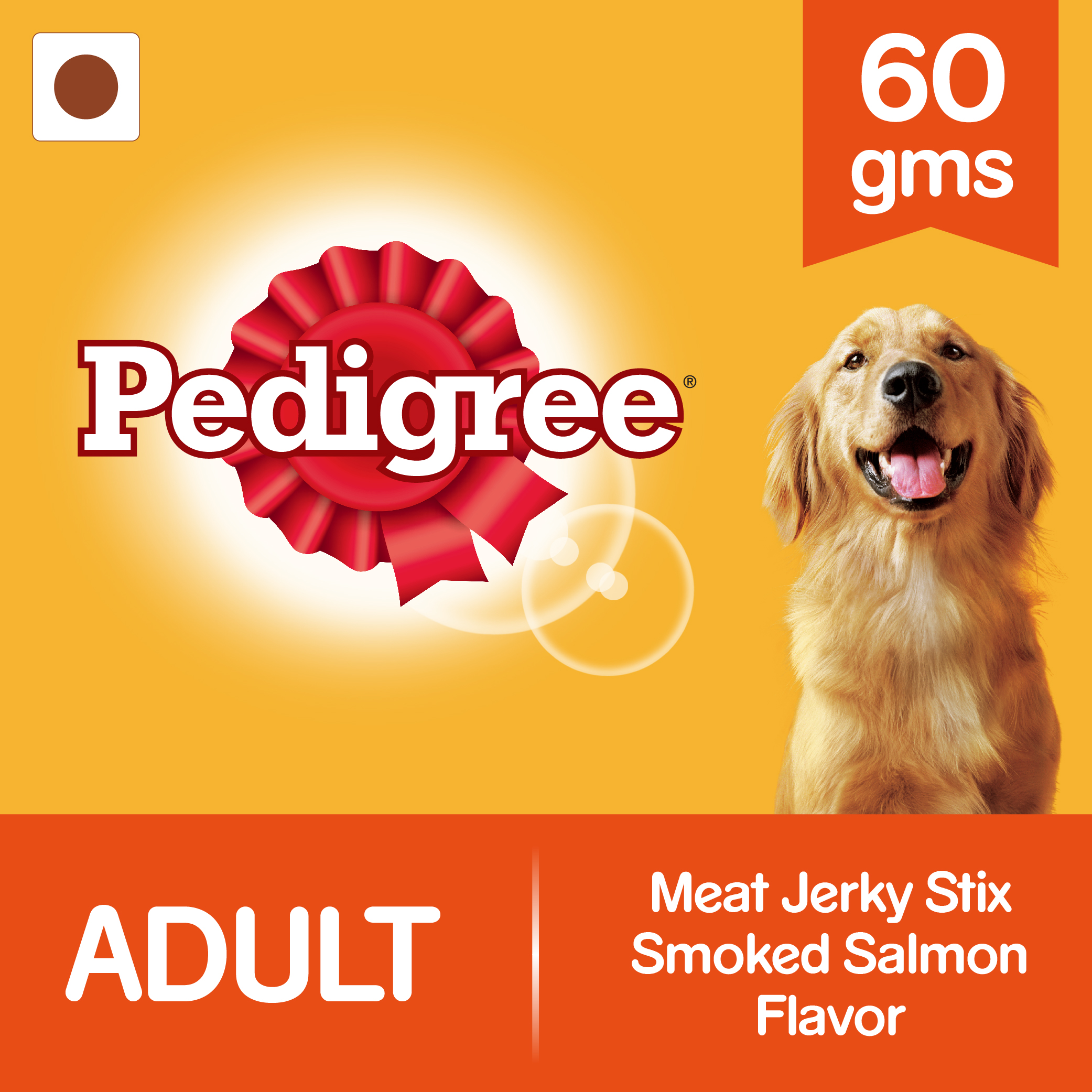 Pedigree Meat Jerky Stix Grilled Smoked Salmon Flavor - 60 gm (Pack of 12)