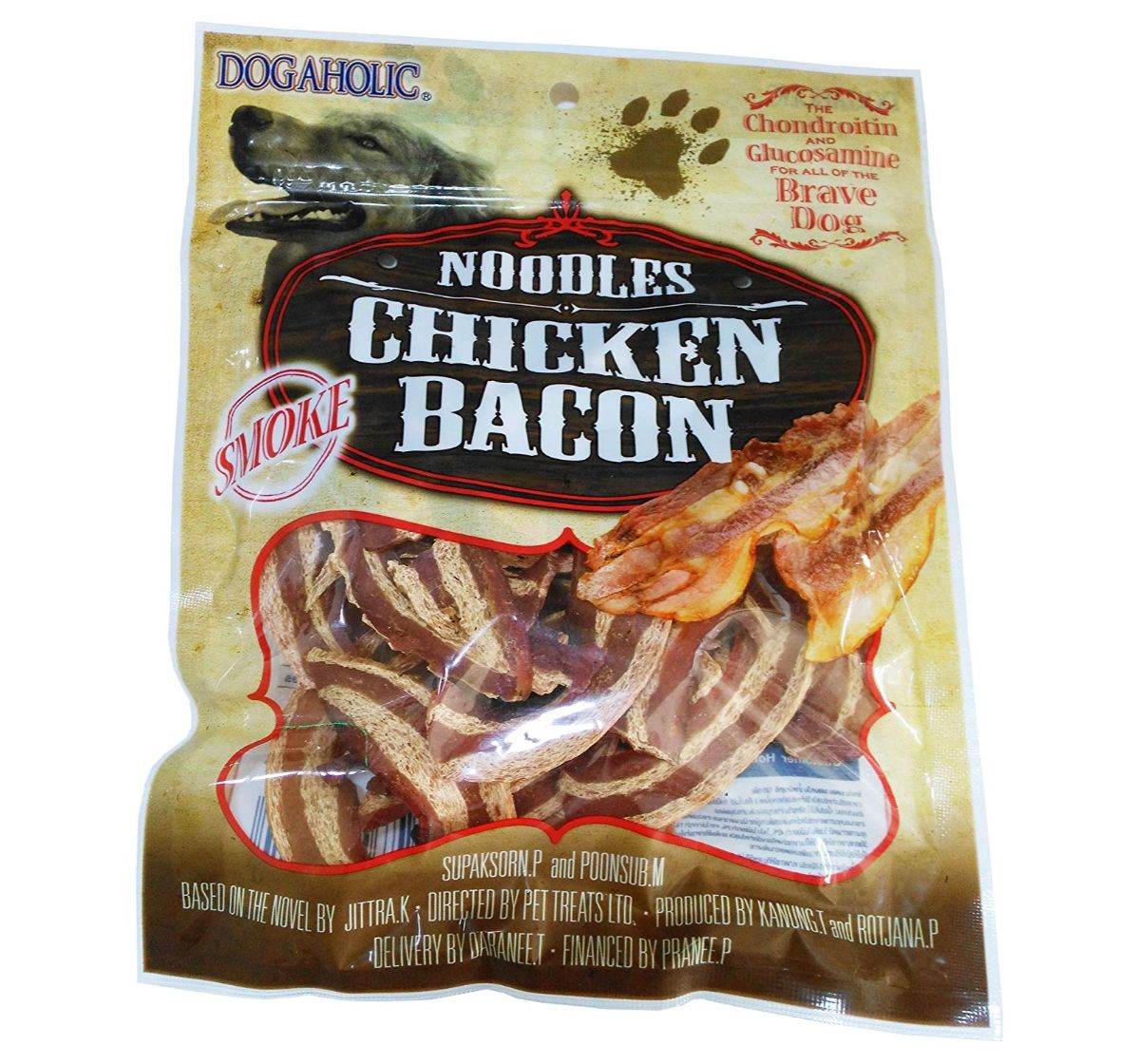 Noodles Chicken Bacon Strips Smoked - 130 gm
