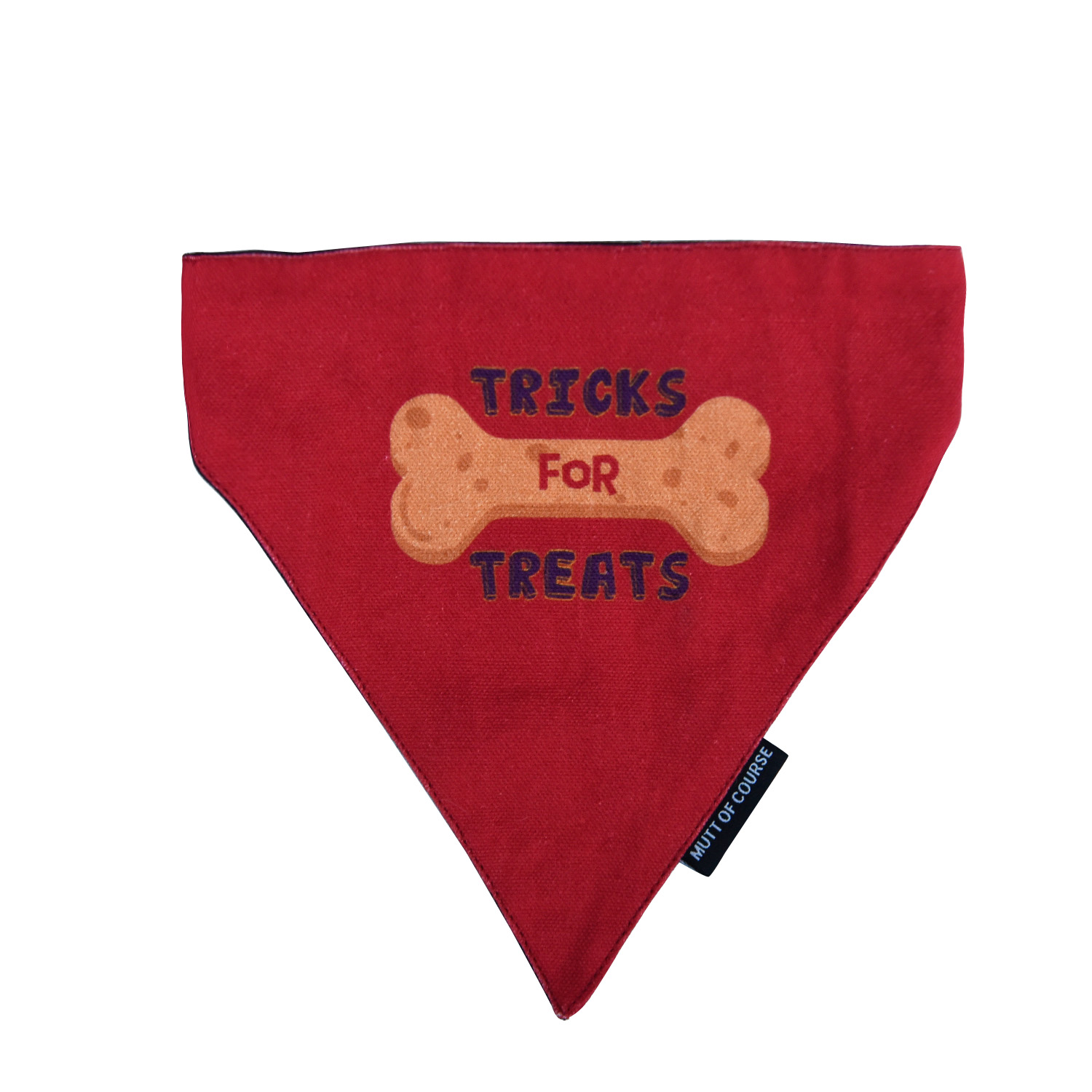 Mutt Of Course Tricks For Treats Bandana - Large
