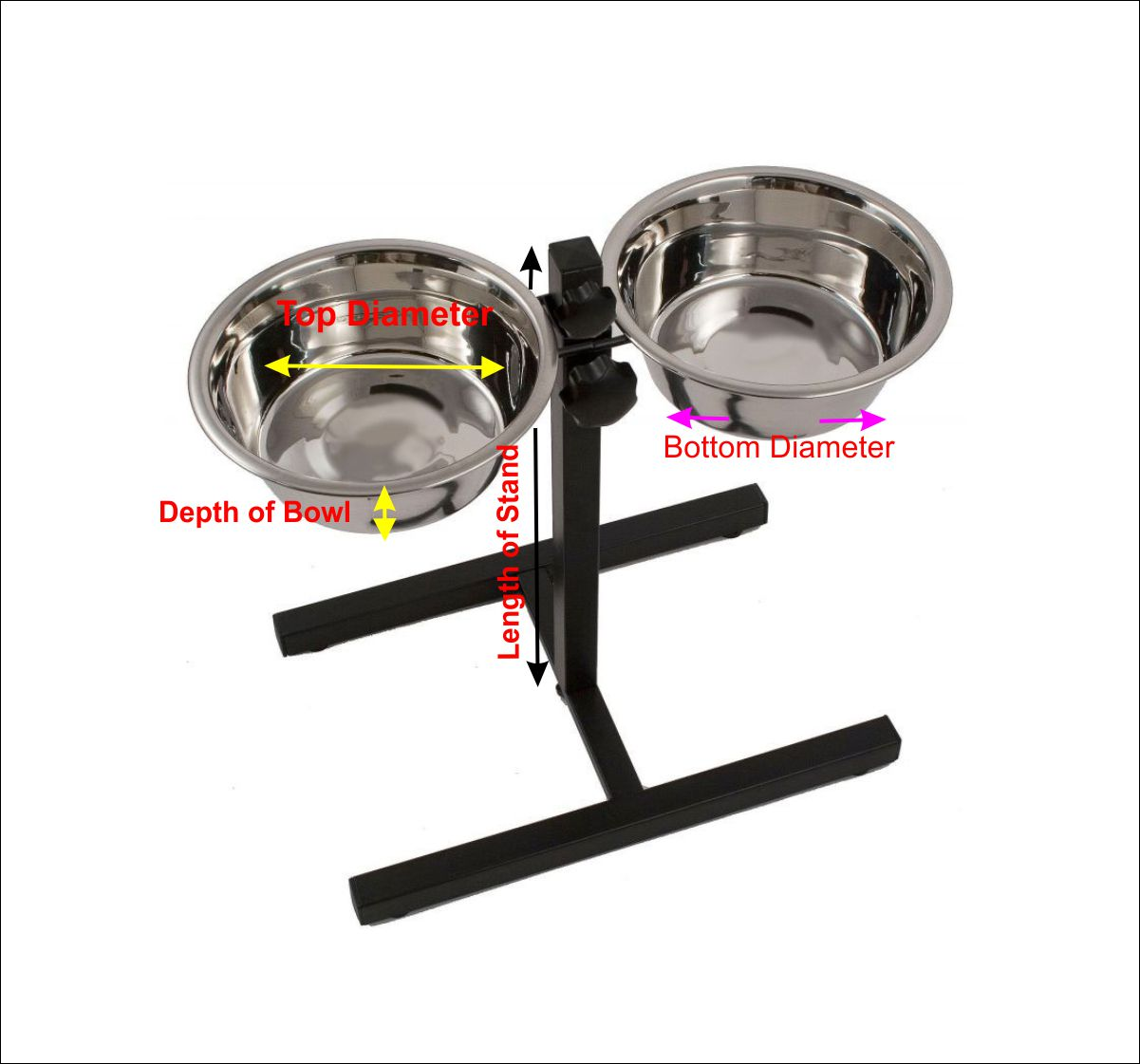 Adjustable Dog Bowl Set Large