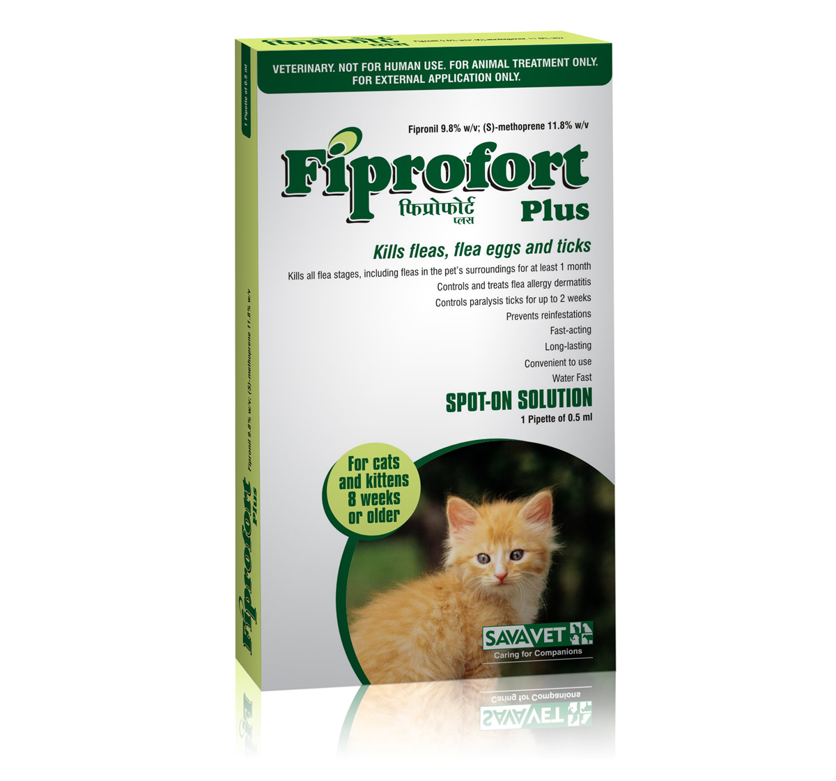 Savavet Fiprofort Plus Spot On For Cats - 0.5 ml