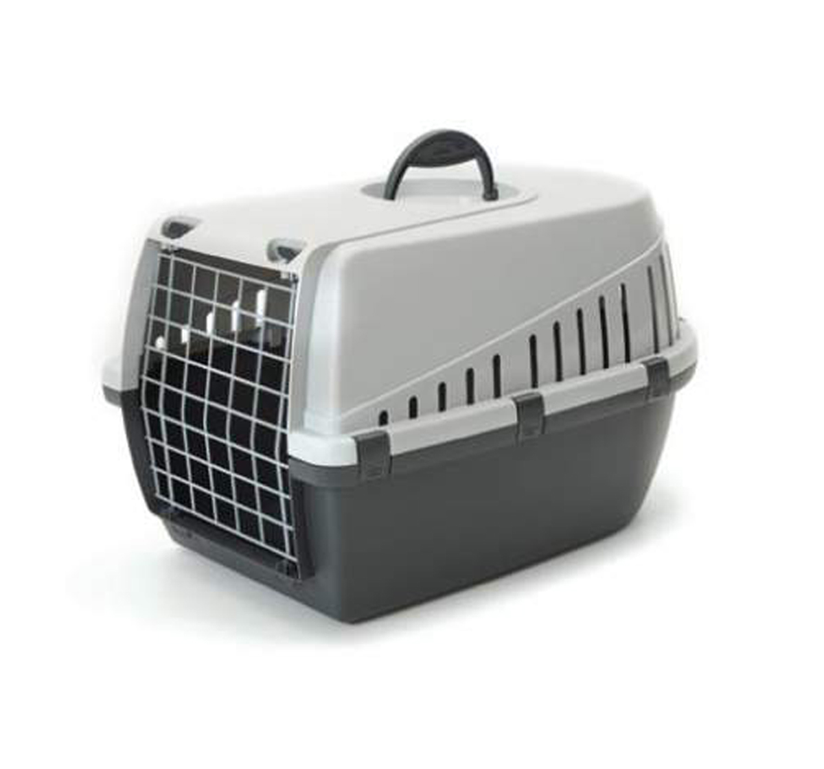Savic Dog Carrier Trotter2 - Dark Grey/Light Grey - Small - (LxWxH - 55.8x38.1x33 cm)