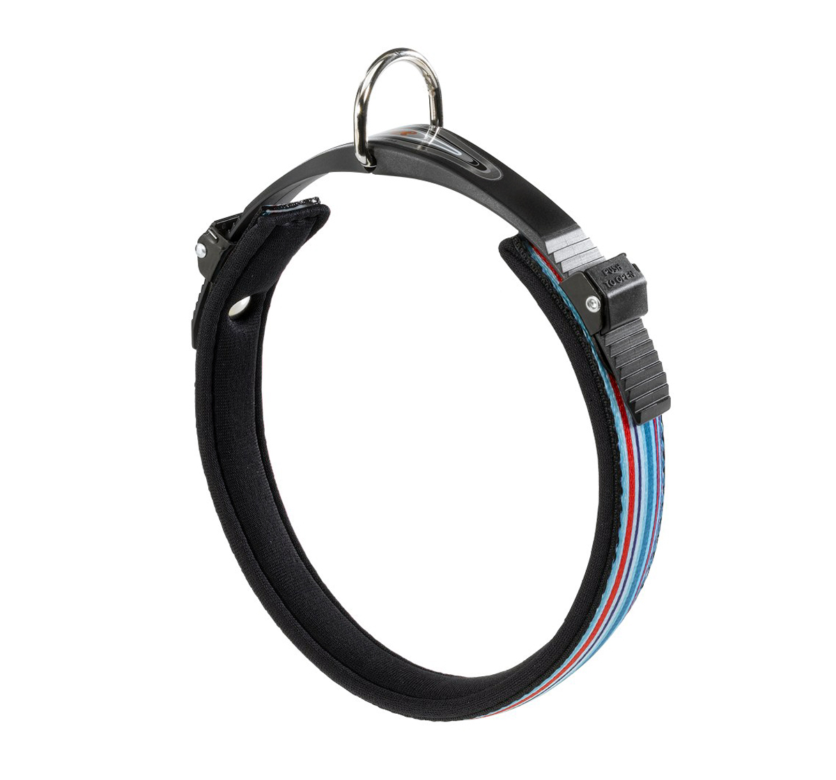 Ferplast Ergocomfort Tattoo Dog Collar Nylon Padded - Small - 15 mm - Blue