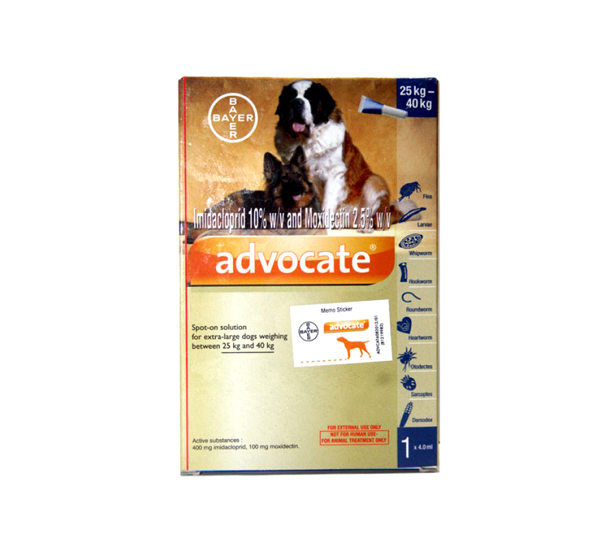 Bayer Advocate For External Parasites For XLarge Dogs - 25 to 40 kg