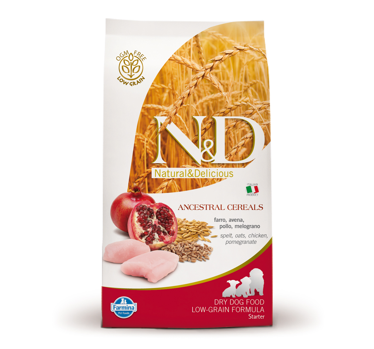 Farmina N&D Dry Dog Food Ancestral Grain Chicken & Pomegranate Starter Puppy - 0.8 kg