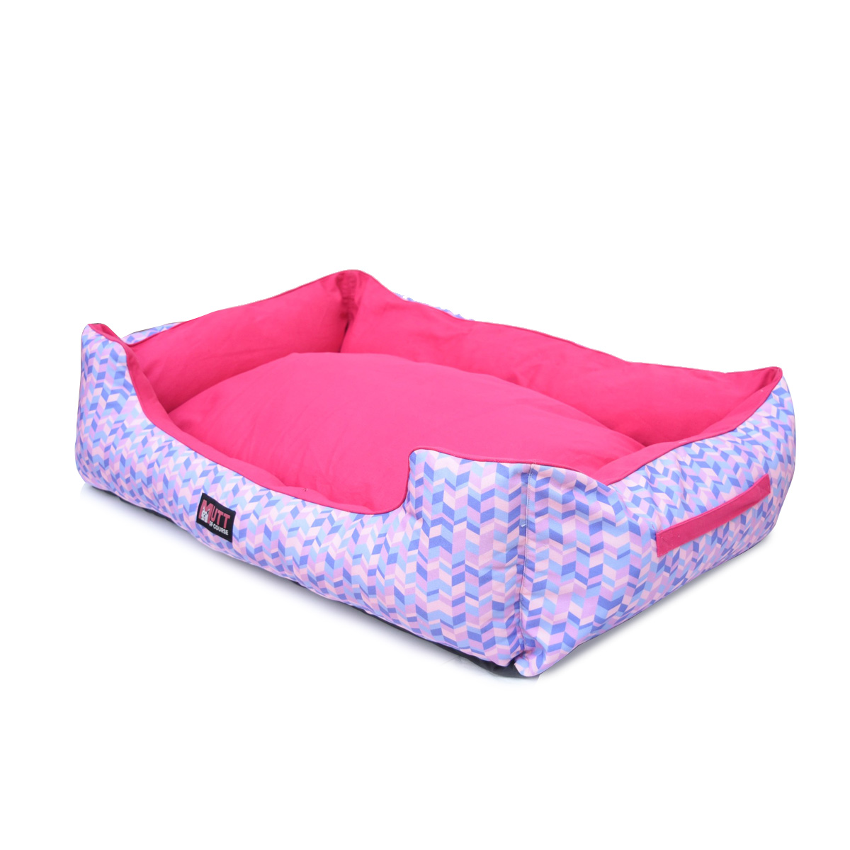 Mutt Of Course Geometrical Light Lounger Bed - Large