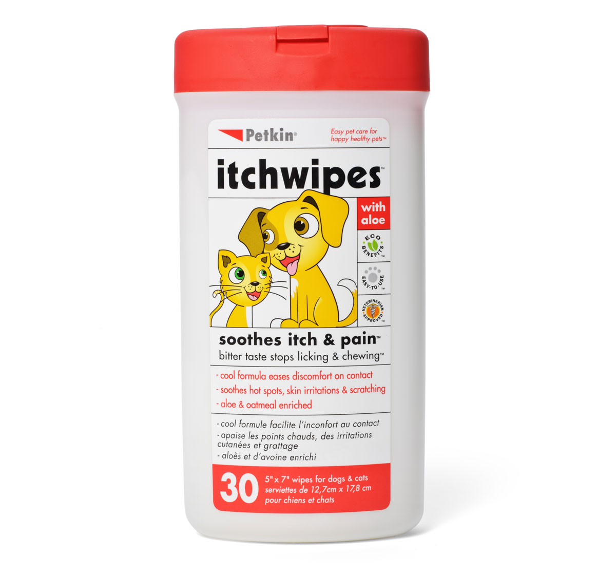 Petkin ItchWipes  For Dog & Cat - 30 pieces