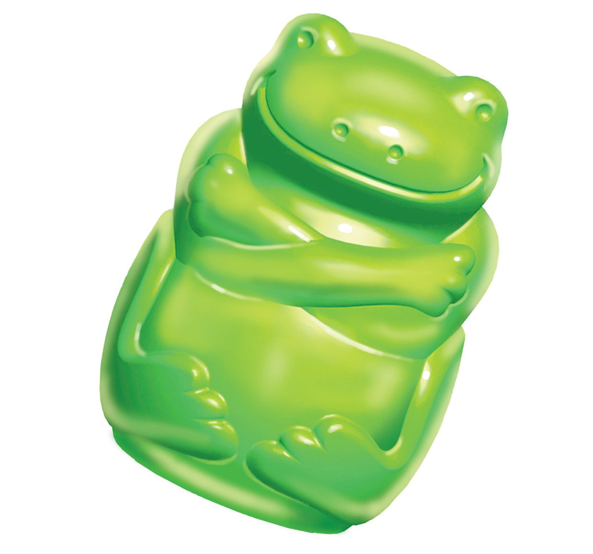 KONG Squeezz Jels Frog Dog Toy Medium