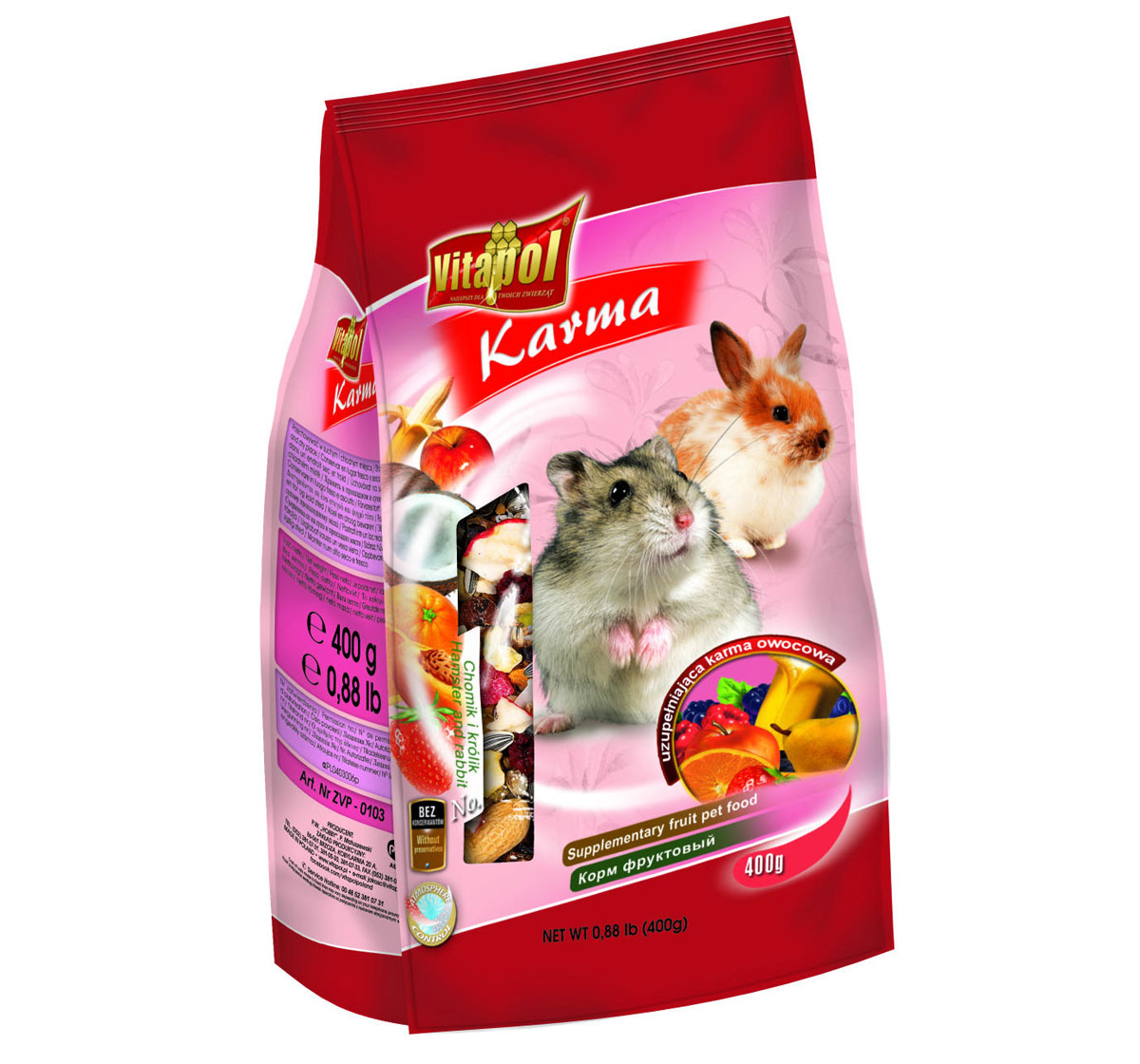 Vitapol Fruit Food For Hamster Food -400 gms