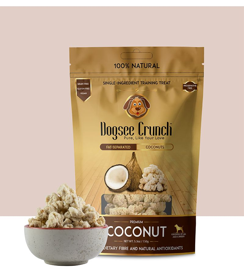 Dogsee Crunch Coconut Flavoured Freeze Dried Treats Dog Treat -150 gm